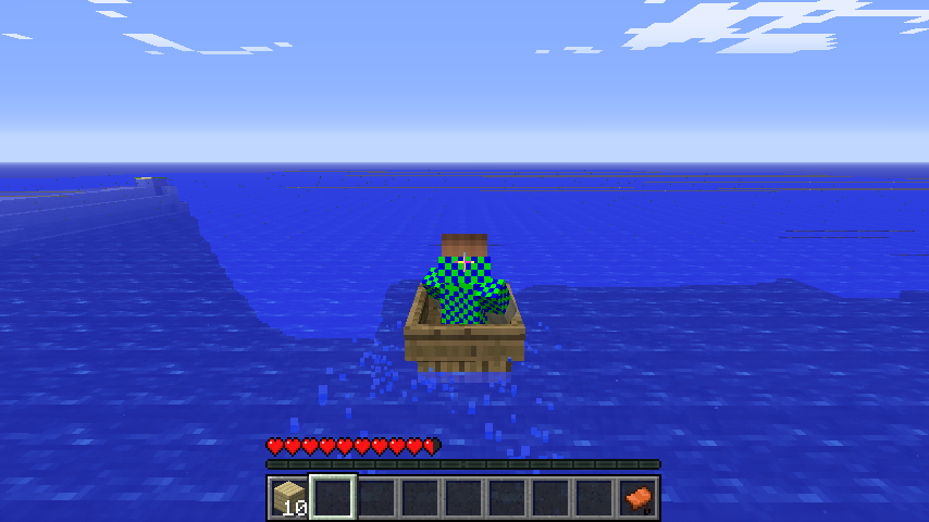 me in a boat going on a adventure